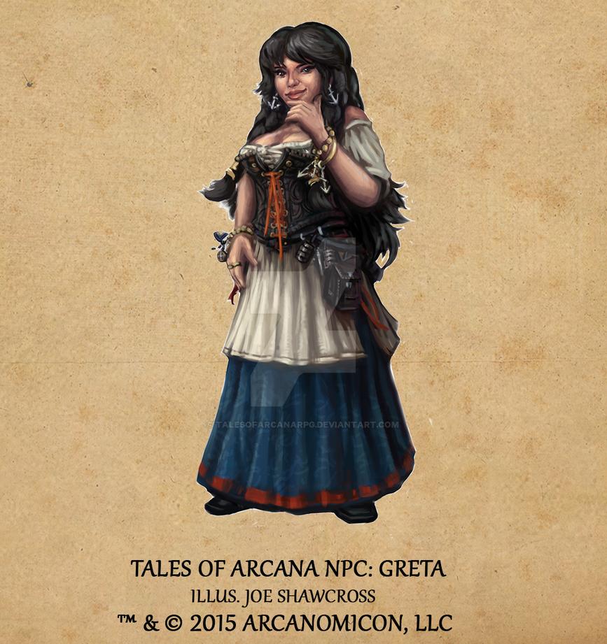Tales of Arcana NPC - Greta by TalesofArcanaRPG
