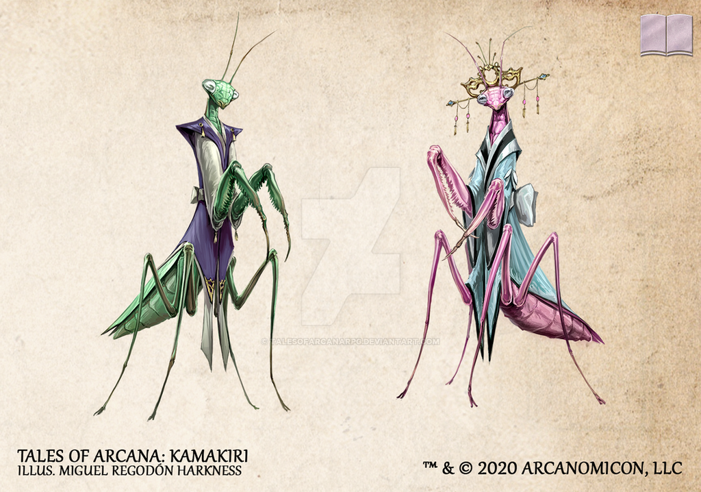 Tales of Arcana 5E Race Guide - Kamakiri