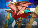 Crimson Dragon - Stained Glass