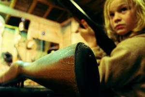 children with gun by elne