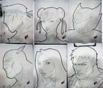 SDCC Head sketches