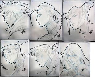 SDCC Head Sketches 3 by E-V-IL