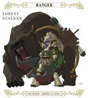 Night Elf Hunter by E-V-IL