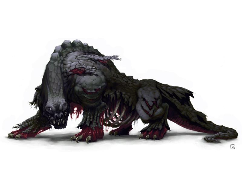 Zombie Dragon by E-V-IL