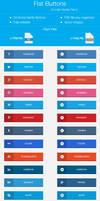 Flat Buttons ( Social Pack )