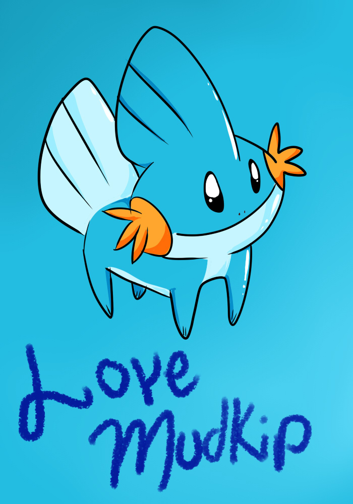 Love mudkip by Jexima