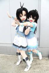 Hibiki and makoto  stage costume 01 by sandaime01