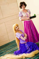 Tangled: Rapunzel before and after by ReneeRouge