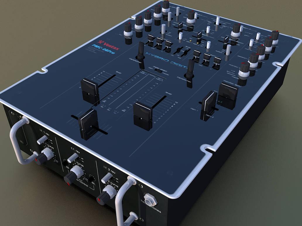 Vestax PMC 08Pro scratch mixer by shareck on DeviantArt
