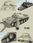 T62 tank sketchup renders