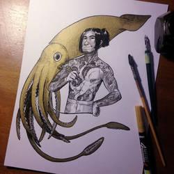 InkTober Day 10 -Gigantic-