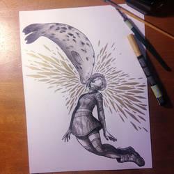 InkTober Day 12 -Shattered-