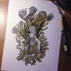 InkTober Day 13 -Teeming-