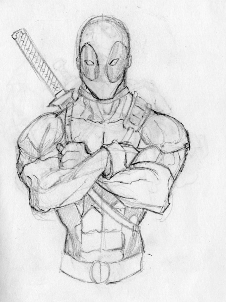 Pencil Drawings Deadpool Drawings In Pencil