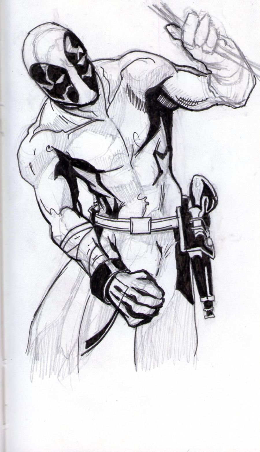 Deadpool Sketch 2 by EllisonIllustrations on DeviantArtDeadpool Sketch