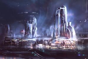 City speedpaint by VincentiusMatthew
