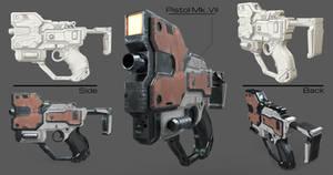 Machine Pistol Low Poly