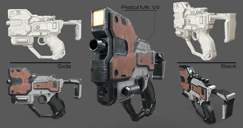 Derringer Pistol Blueprints