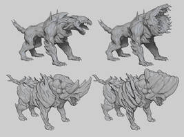 Commission: Infected Beasts Concept by VincentiusMatthew