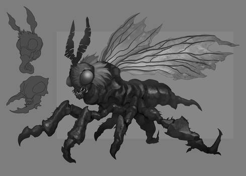 Commission: The Hive Mind Creature Concept WIP