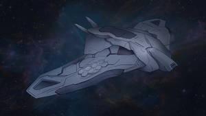 Commission: Phantom Class Frigate by VincentiusMatthew