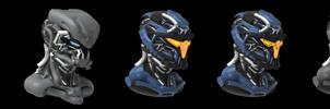 Commission: Helmet Concept by VincentiusMatthew