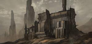 Black Desert Fort by VincentiusMatthew