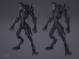 Commission: Creature Design_Abhva Pretya by VincentiusMatthew