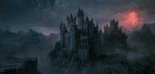 Commission: Dark Castle by VincentiusMatthew