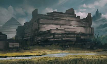 Commission: Zhren Thrar Ruins by VincentiusMatthew