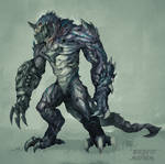 Commission: Creature Design_Makara Ravager