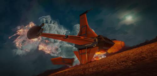 B-Wing Mayday by VincentiusMatthew