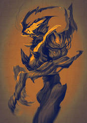 Commission: Alien Shrimp Concept
