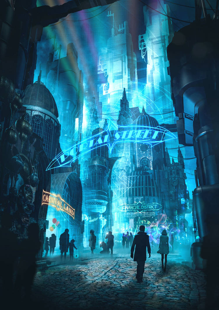 Commission: Bluefall_Portal Street Concept