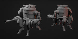 WW2 Russian Mech Miniature Sculpting