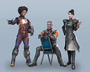 Commission: Last Fleet Character Concepts