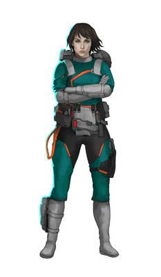 Commission: Last Fleet_Female Engineer Concept