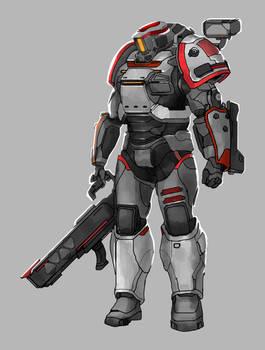 Commission: Heavy Soldier Concept