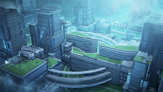 Commission: Ecopunk City Concept
