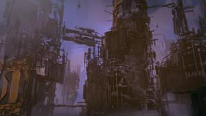 Dystopian Industrial City