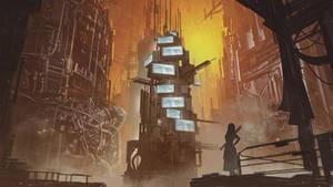 Dystopian City Concept