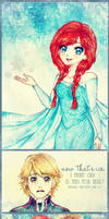 Now That's Ice (Kristoff and Anna) by heri-umu