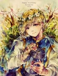 Flower Crowns and Melancholic Eyes by heri-umu