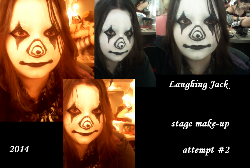 Laughing Jack Make-up Second Attempt by djlee6