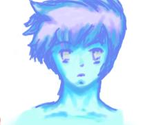 Ice blue Sketch by GoldenSaxDiamond