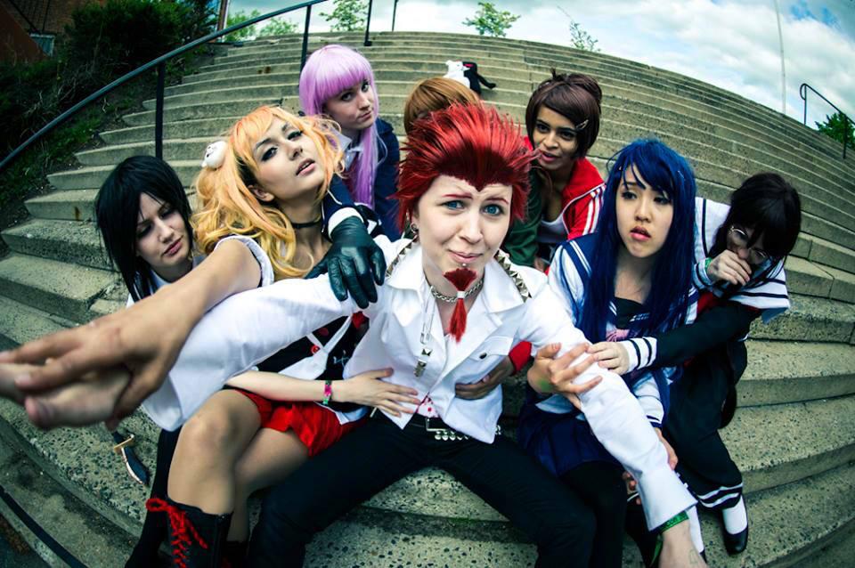 Dangan Ronpa - Leon with the ladys by HappyManga