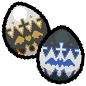 My Cousin's Eggs _Pixel'd by Karite-Kita-Neko