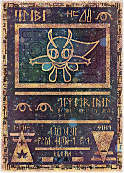 Dark Celebi Card Ancient Celebi ...