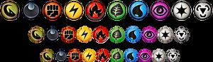 NEW SPECIES Type/Energy Symbols