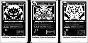 Pokemopolis Giants Monochrome Cards by icycatelf